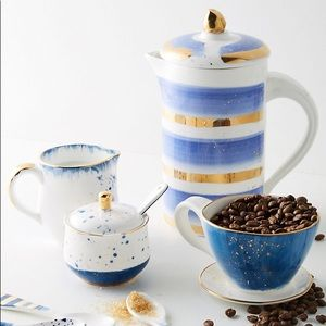 NWT Anthropologie Mimira Stoneware French Press